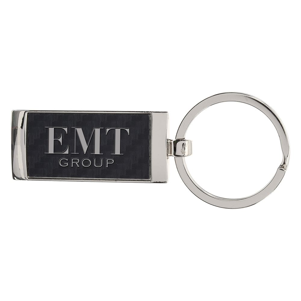 Bryan Carbon Fiber Key Ring - Personalization Available