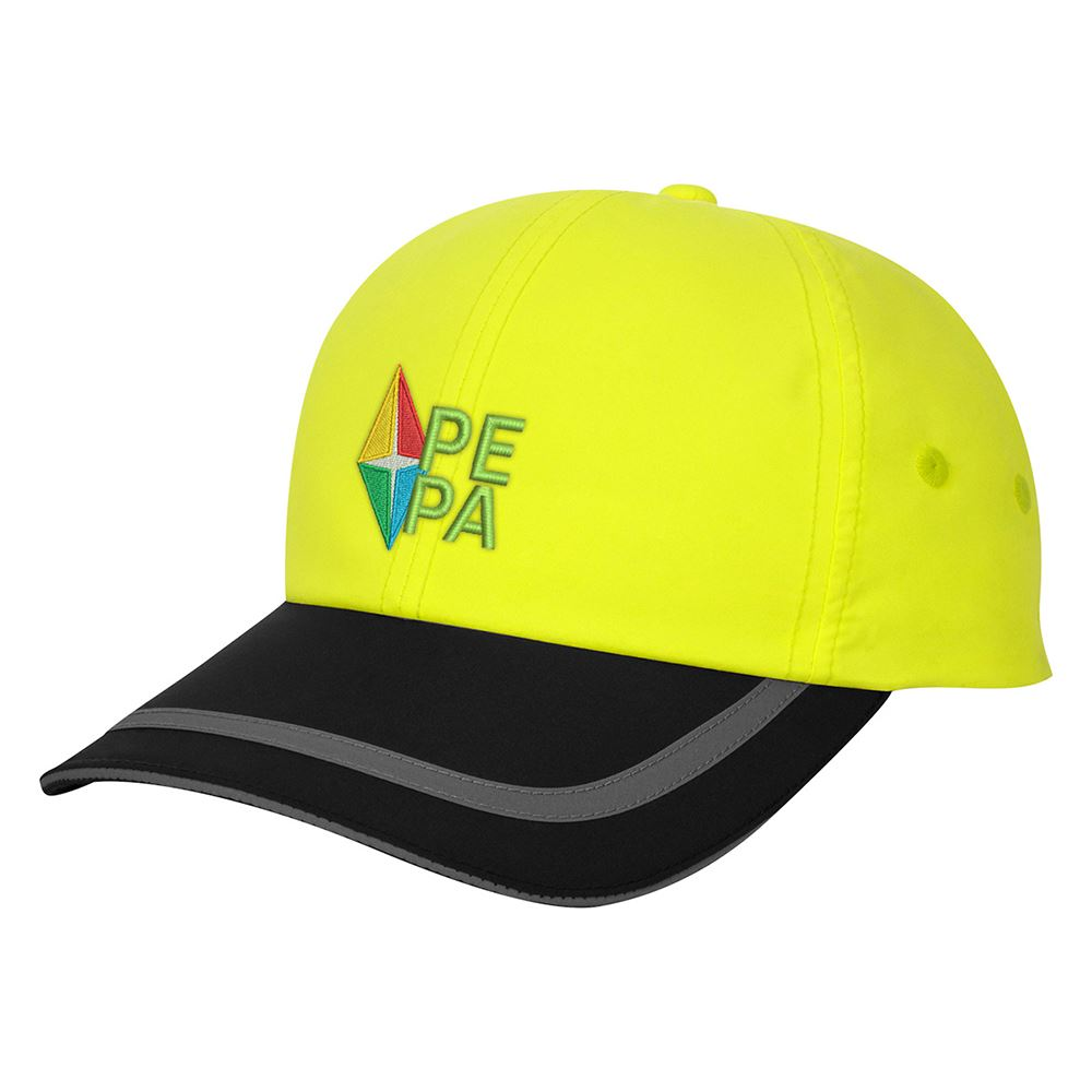 Enhanced Visibility Reflective Cap - Personalization Available