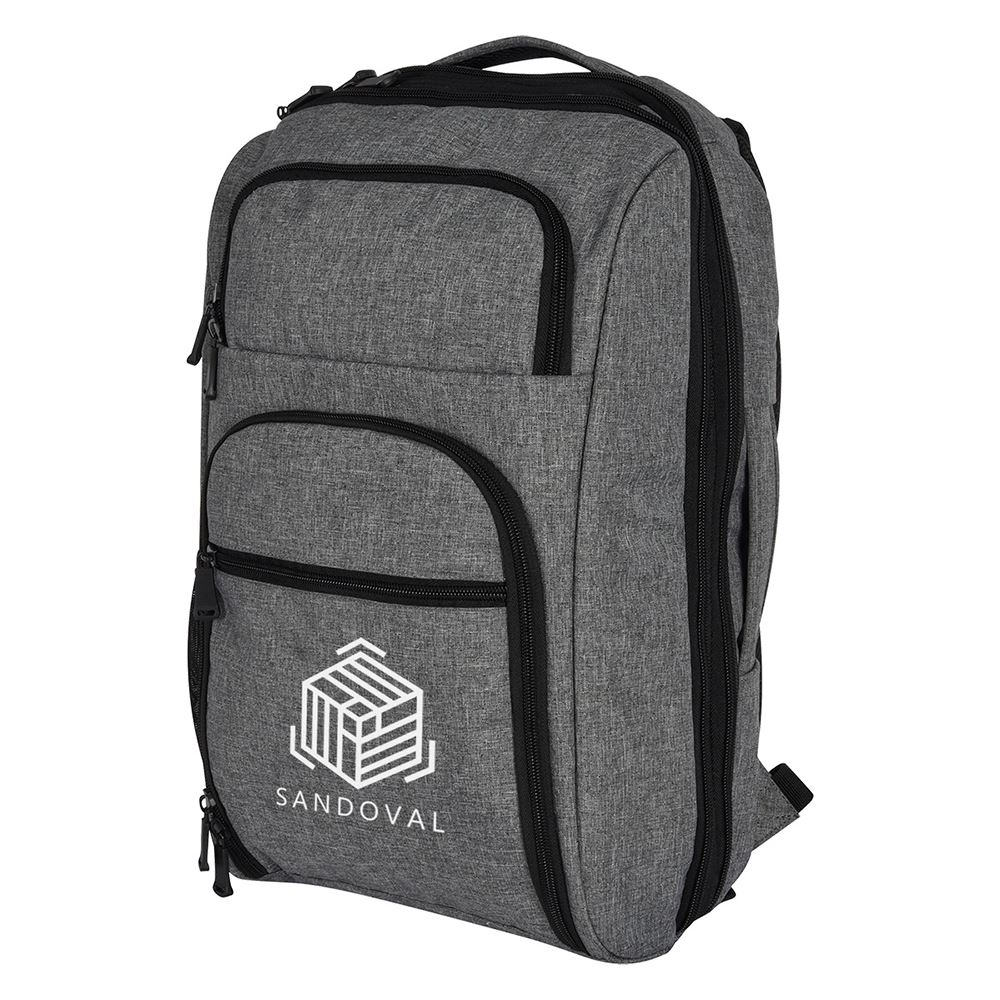 Heathered RFID Laptop Backpack & Briefcase - Personalization Available