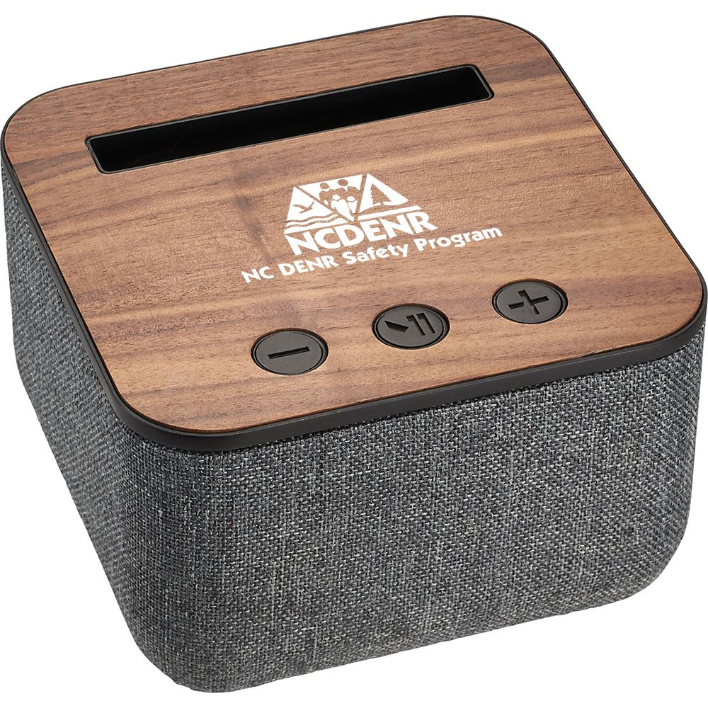 Shae Fabric And Wood Bluetooth® Speaker - Personalization Available