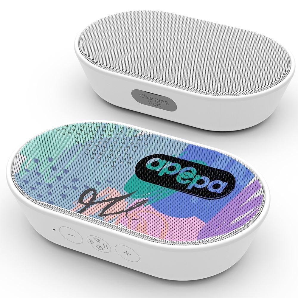 Luna Ultra-Portable Wireless Speaker - Full-Color Personalization Available