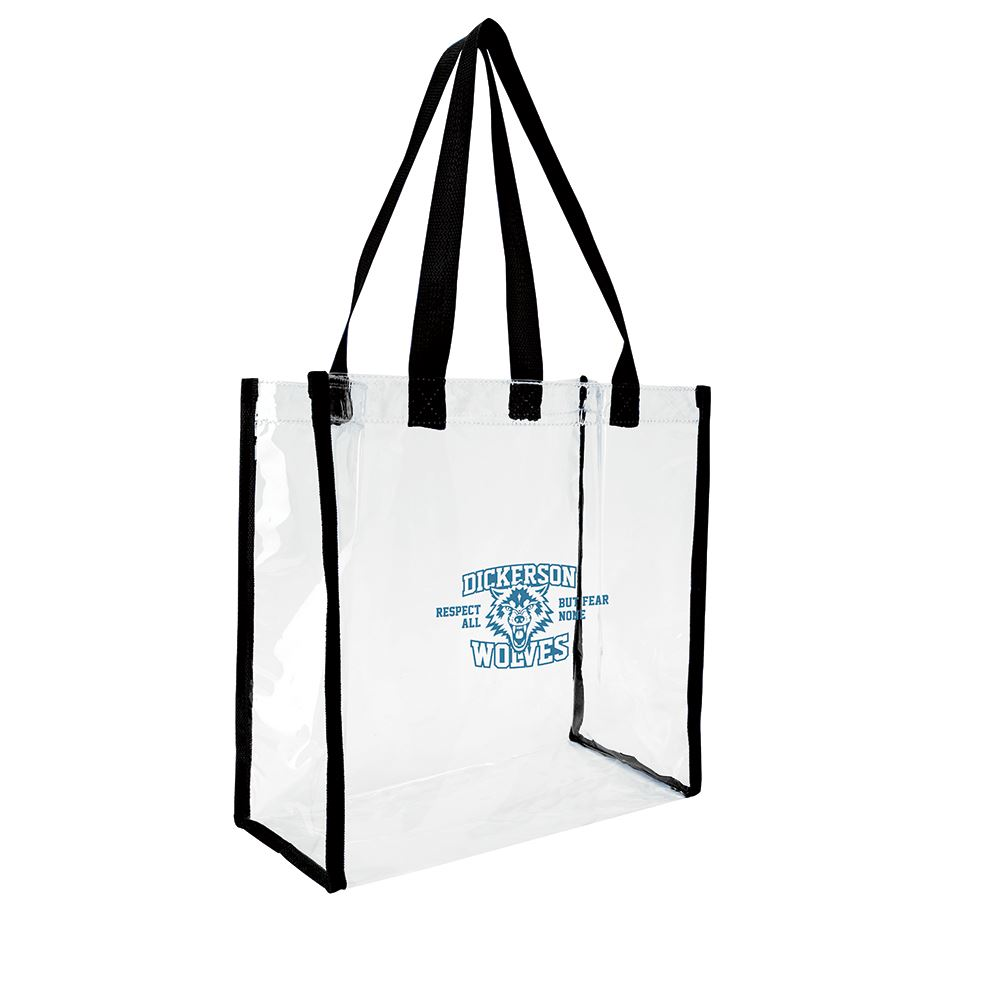 Clear Game Tote - Personalization Available