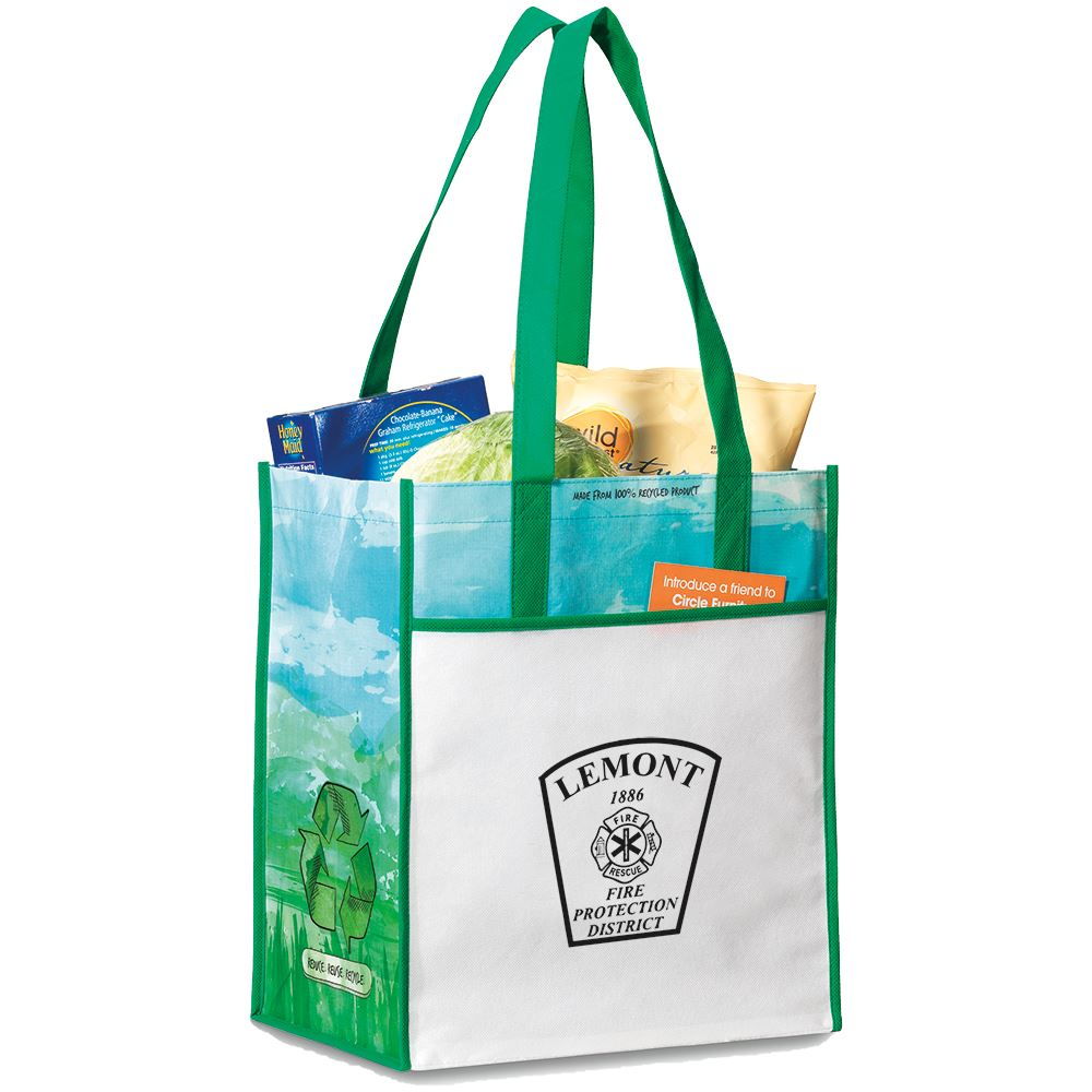 Vita Laminated Recycled Shopper Tote - Personalization Available