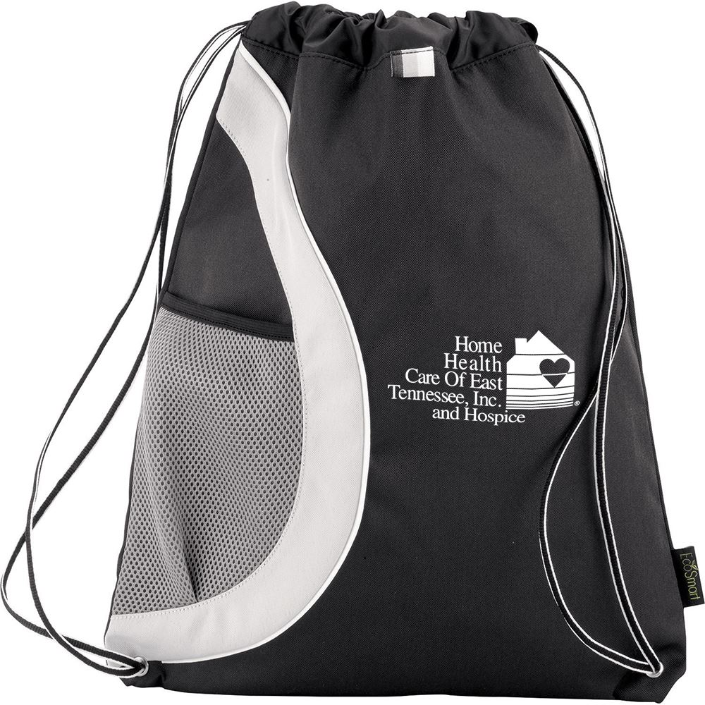 Arches Recycled PET Drawstring Backpack - Personalization Available