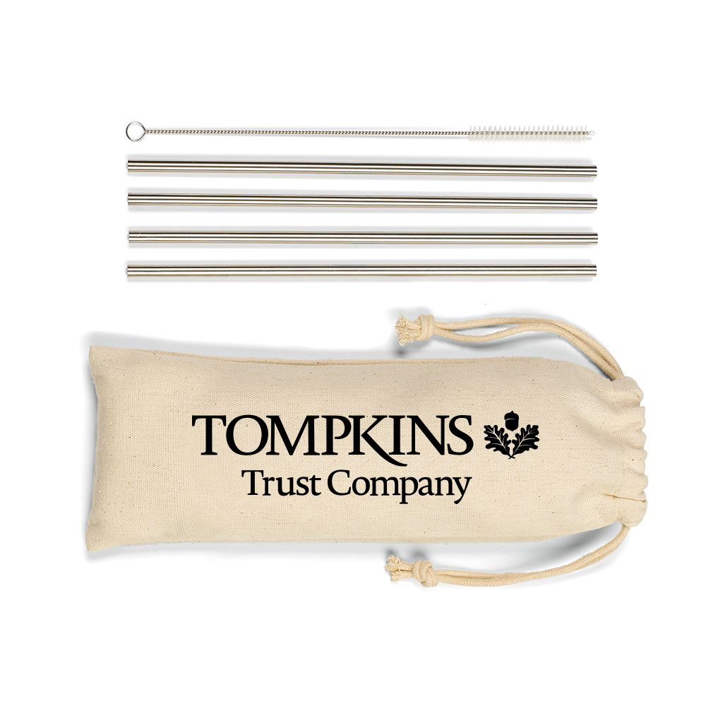 Reed Stainless Steel Straw Set - Personalization Available