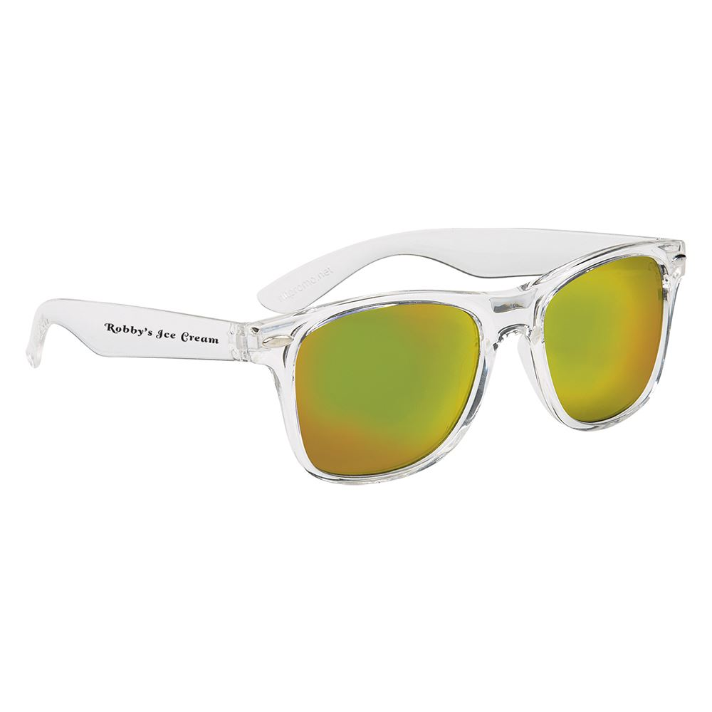 Crystalline Mirrored Malibu Sunglasses - Personalization Available