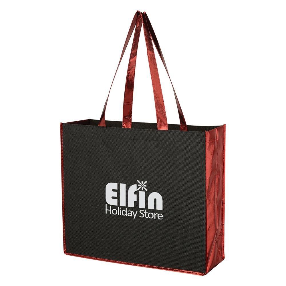 Metallic Accent Non-Woven Tote Bag - Personalization Available