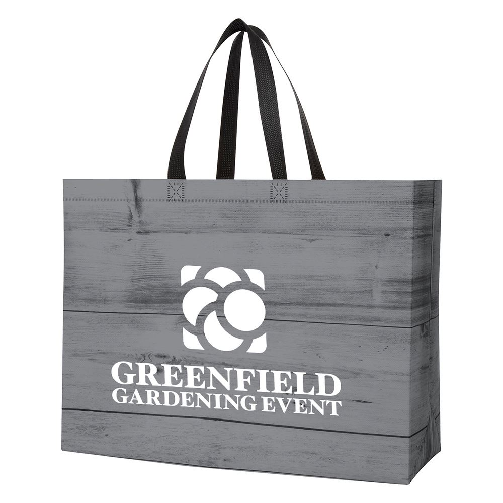 Chalet Laminated Non-Woven Tote Bag - Personalization Available