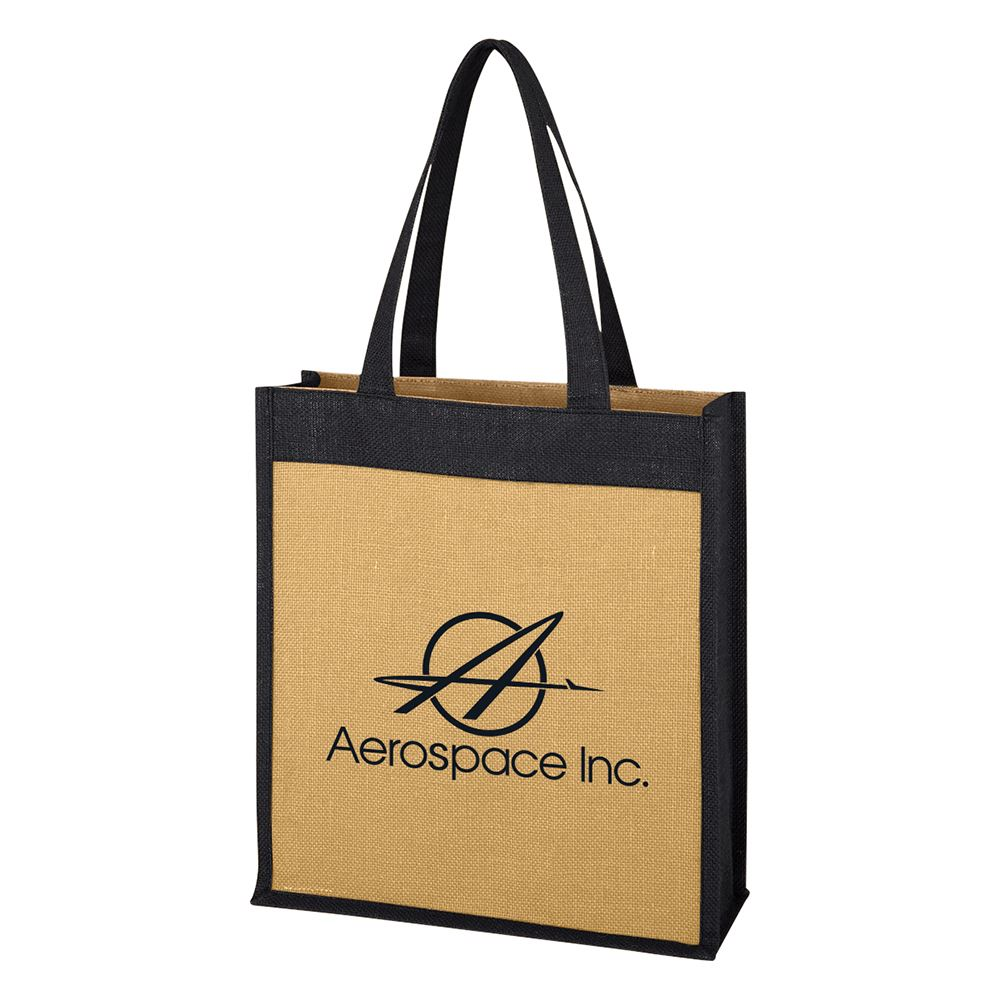 Laminated Jute Tote Bag - Personalization Available