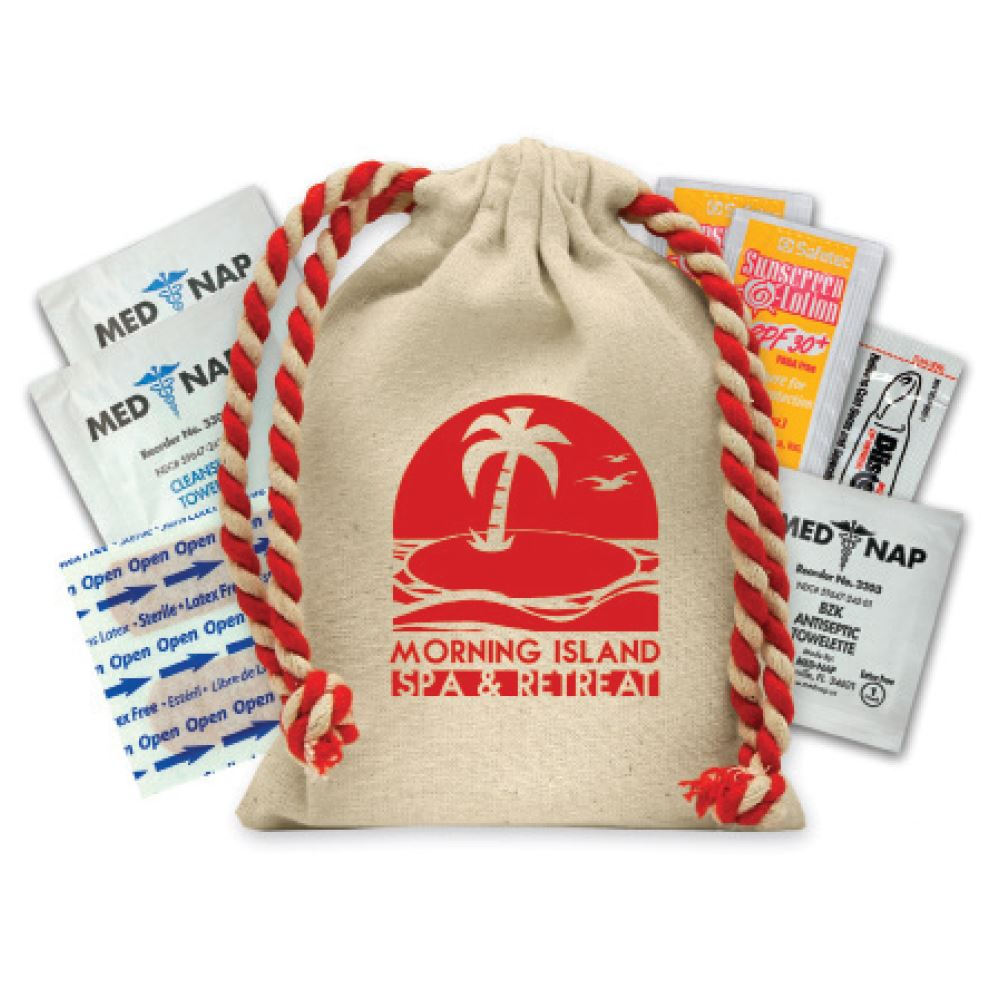 Natural Cotton Canvas Suncare Kit- Personalization Available