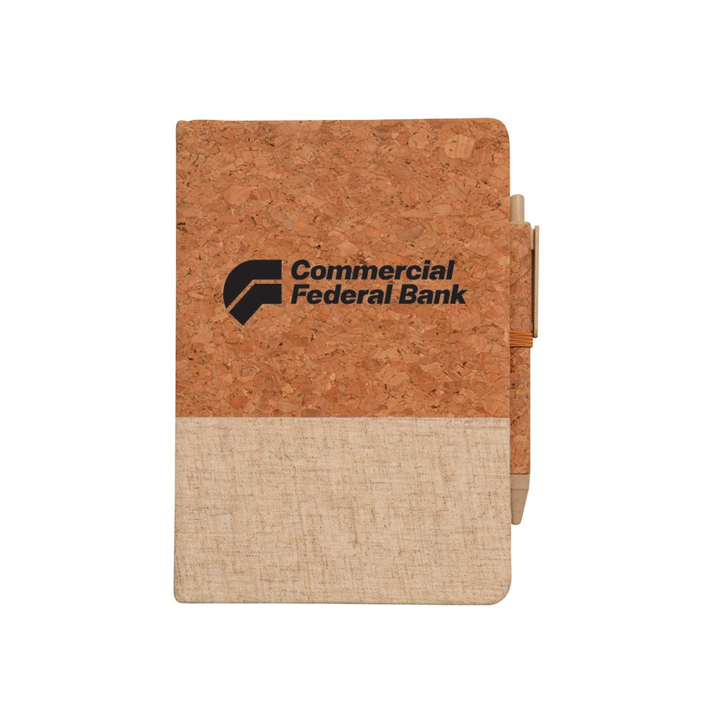 Montado Cork And Linen Journal - Personalization Available