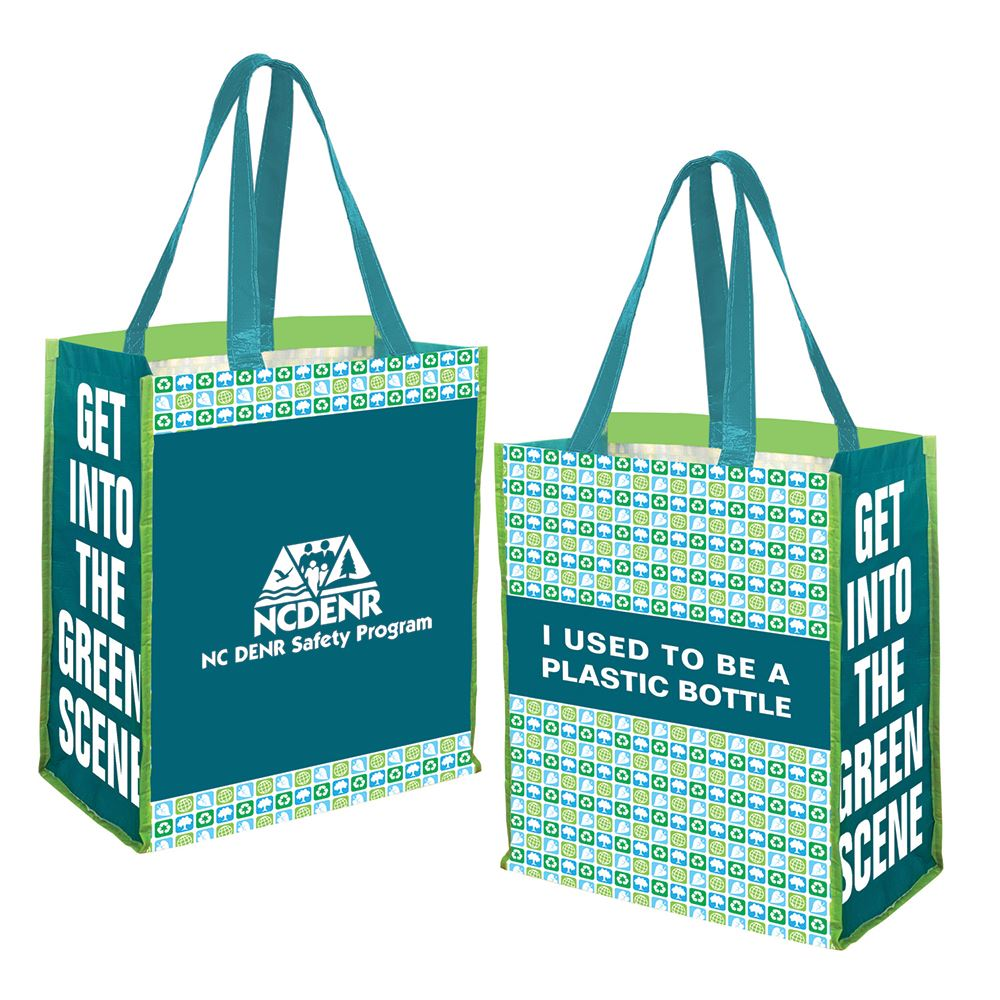 RPET Printed Jumbo Grocery Tote Bag - Personalization Available