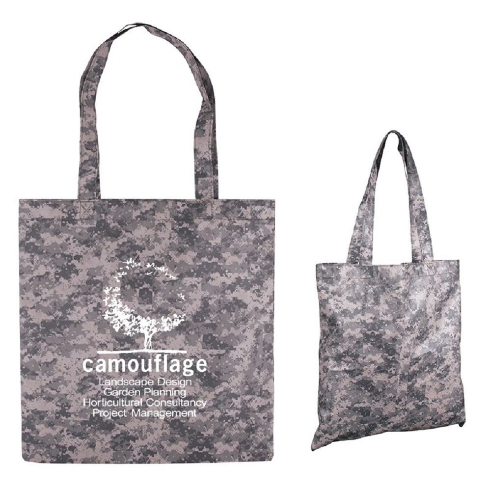 Digital Camouflage RPET Value Tote Bag - Personalization Available