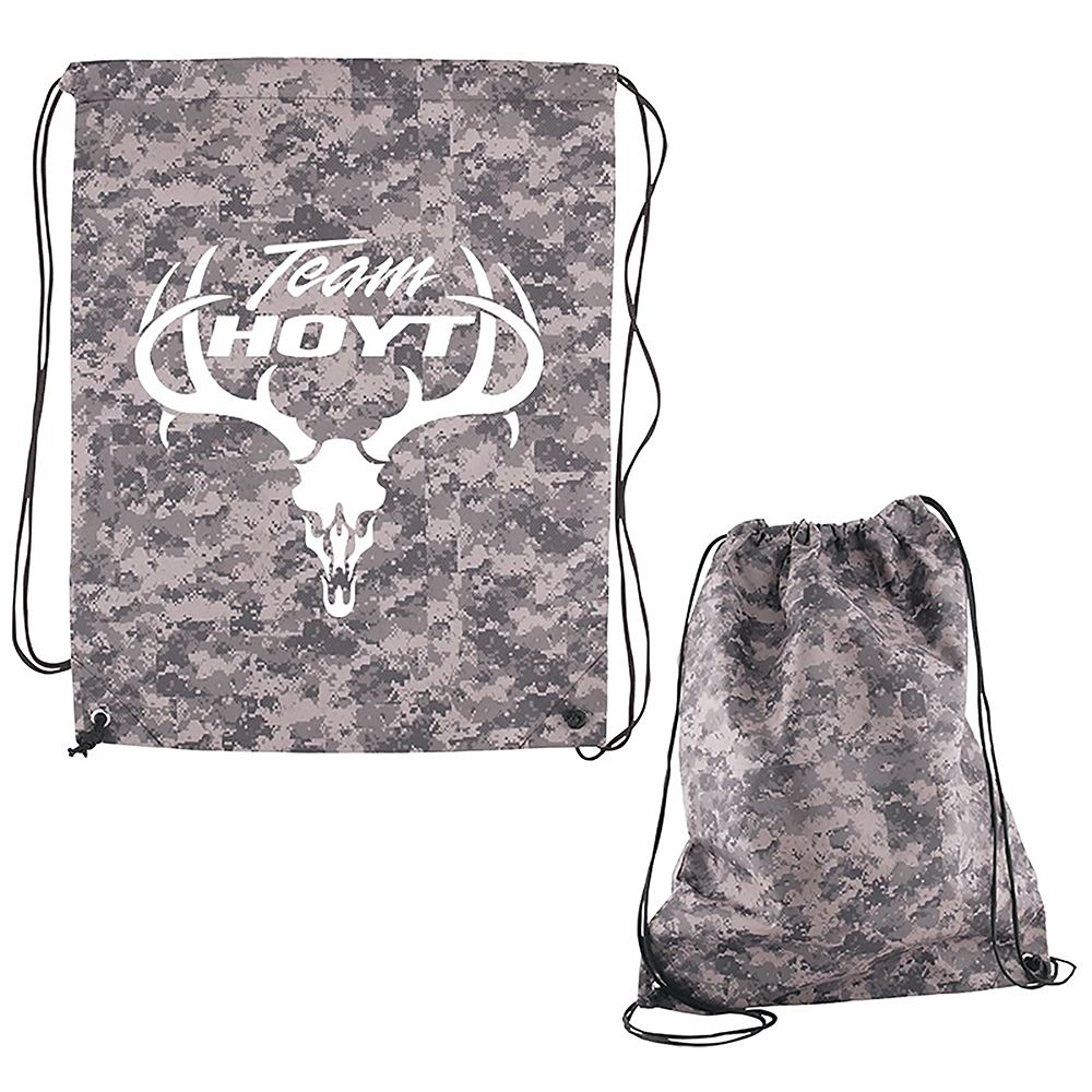 Digital Camouflage RPET Drawstring Cinch-Up Backpack - Personalization Available
