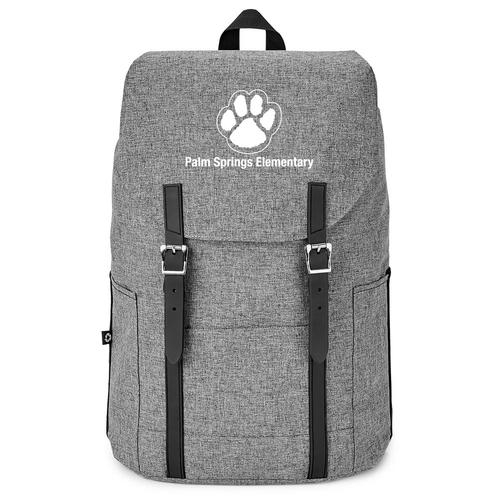 Gray Flip-Top Backpack - Personalization Available