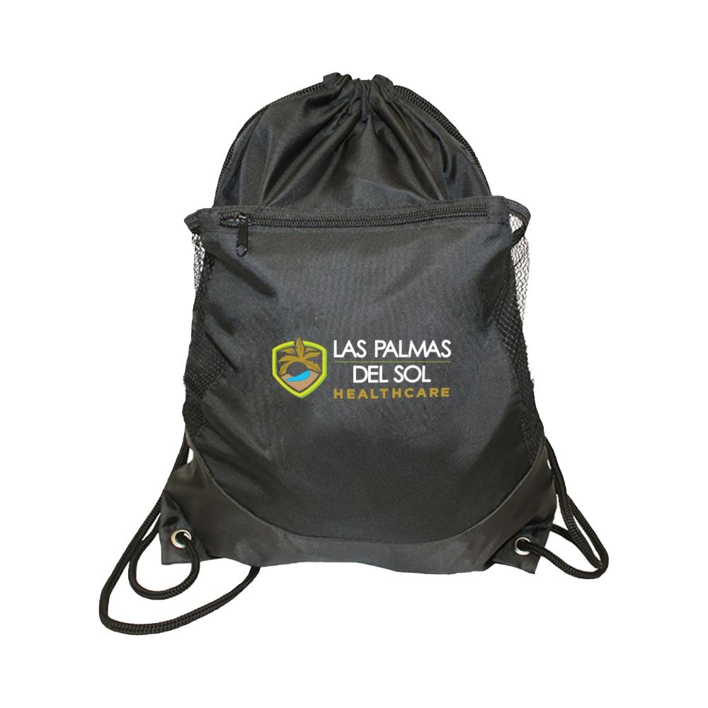 Soft RPET Pocket Drawstring Backpack - Full Color Personalization Available
