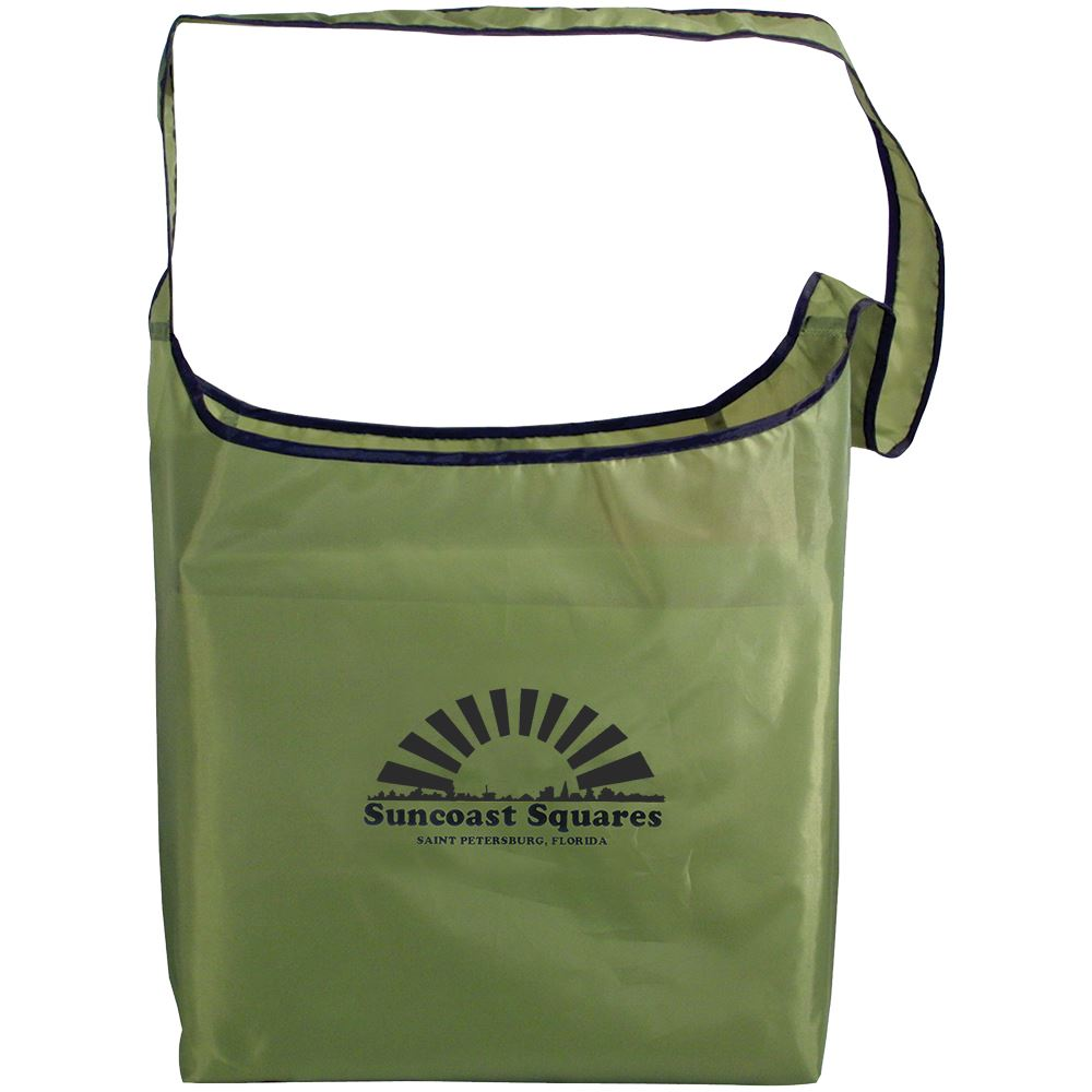 RPET Fold-Away Sling Bag - Full Color Personalization Available