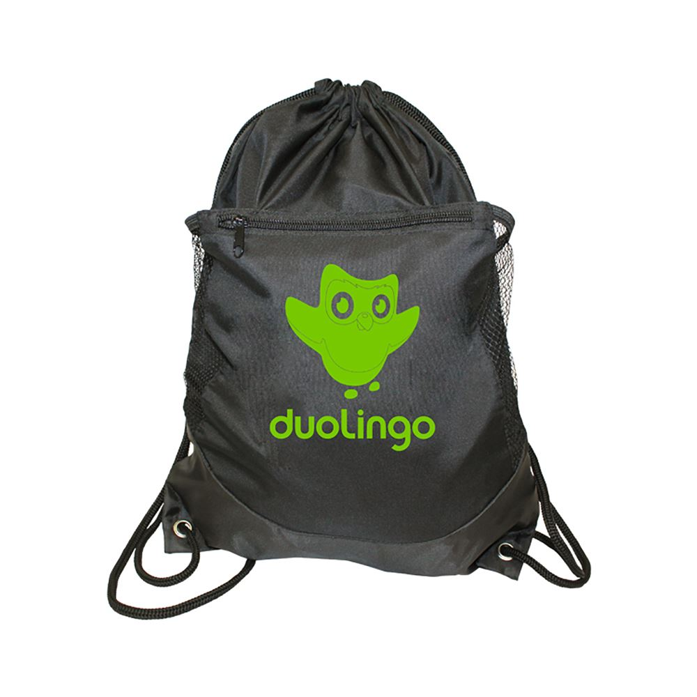 Soft RPET Pocket Drawstring Backpack - Personalization Available