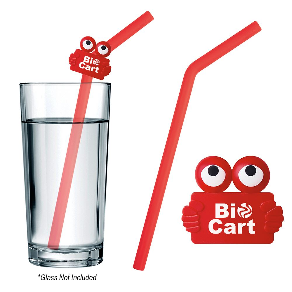 Silicone Straw With Clipster - Personalization Available