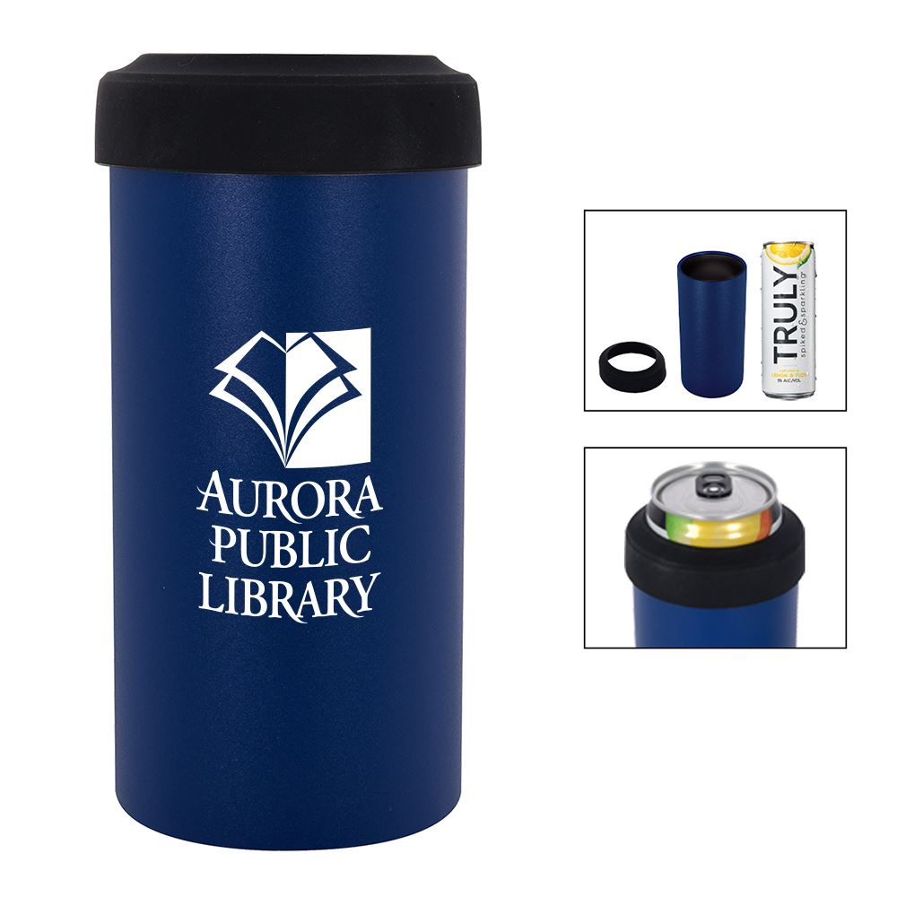 Slim Stainless Steel Insulated Can Holder - Personalization Available