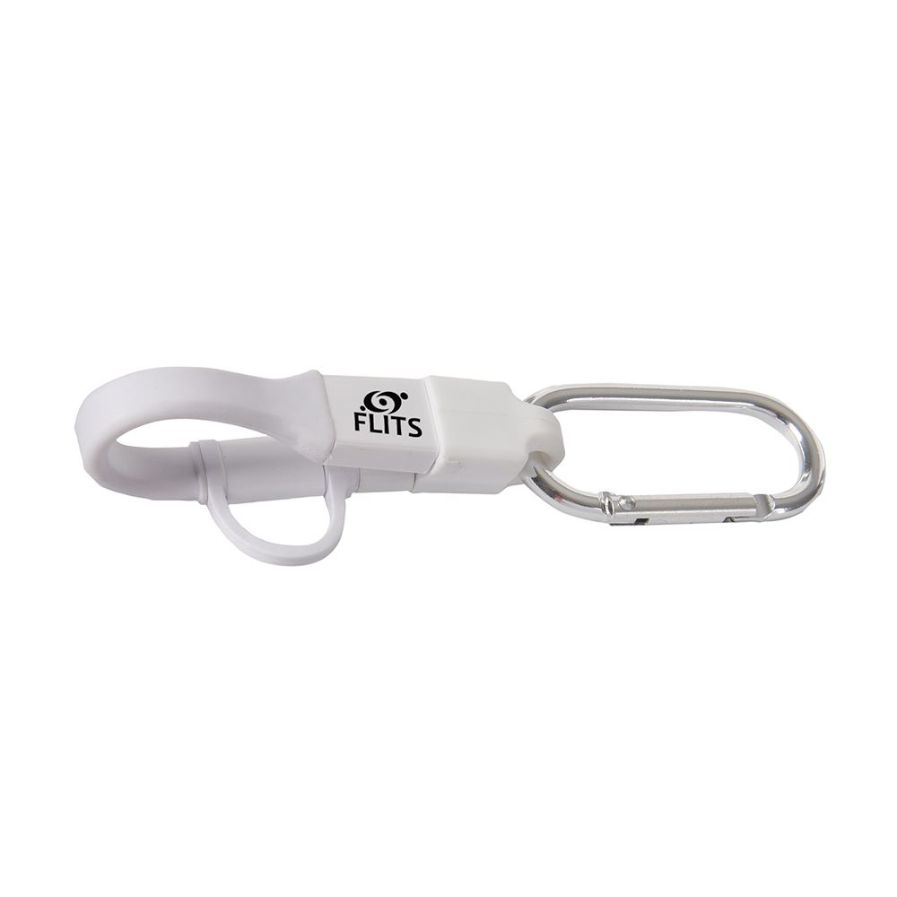 3-In-1 Charging Cable Carabiner - Personalization Available