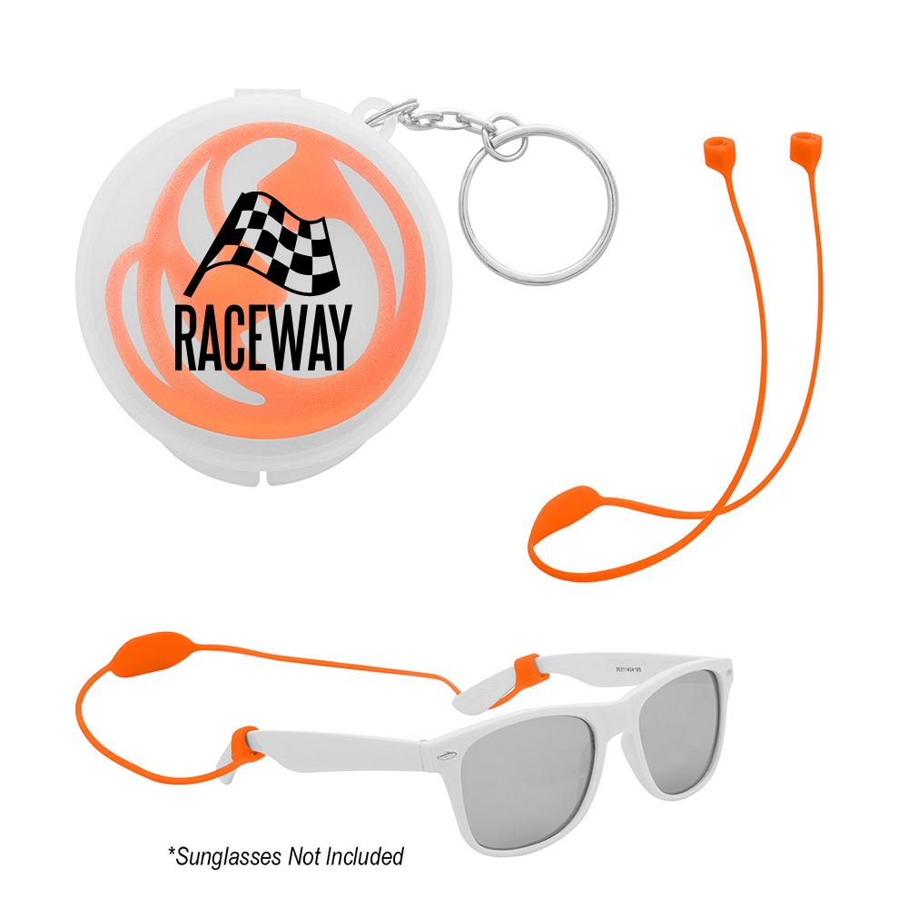 Secure Strap Ear Pod and Sunglass Holder - Personalization Available