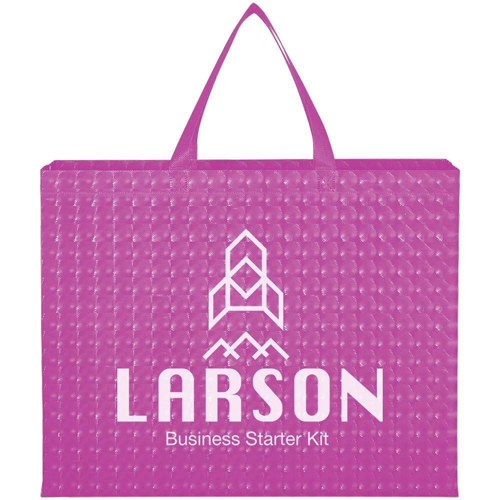 Illusion Laminated Non-Woven Tote Bag - Personalization Available