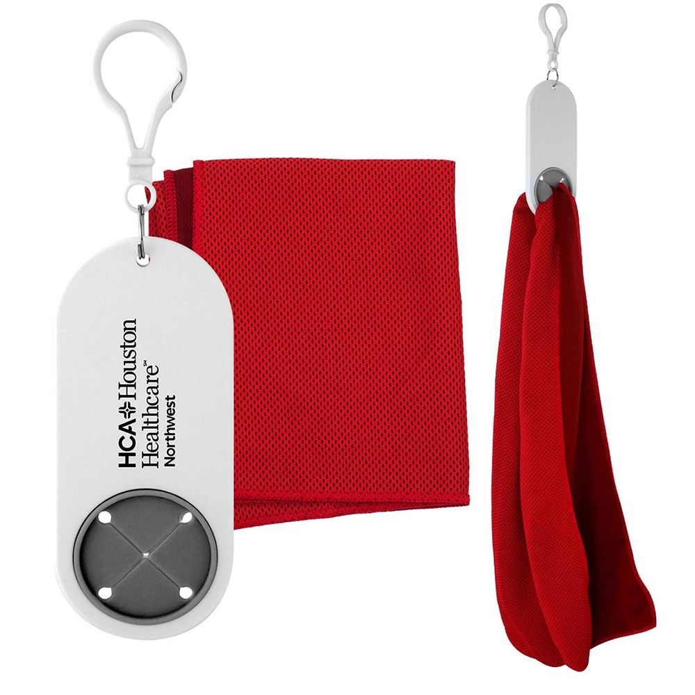 Cooling Cloth Keychain Holder - Personalization Available