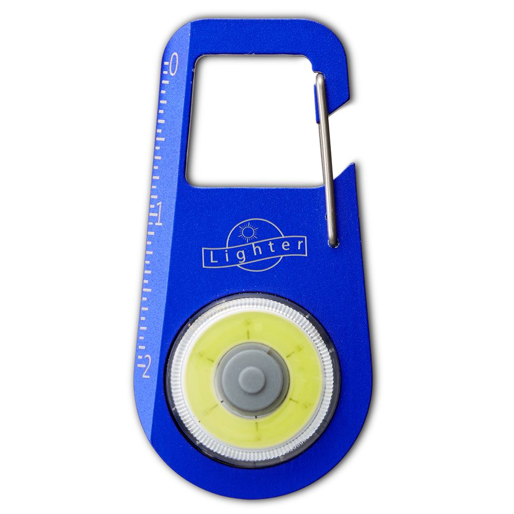 Aluminum Carabiner COB Light With Ruler - Personalization Available