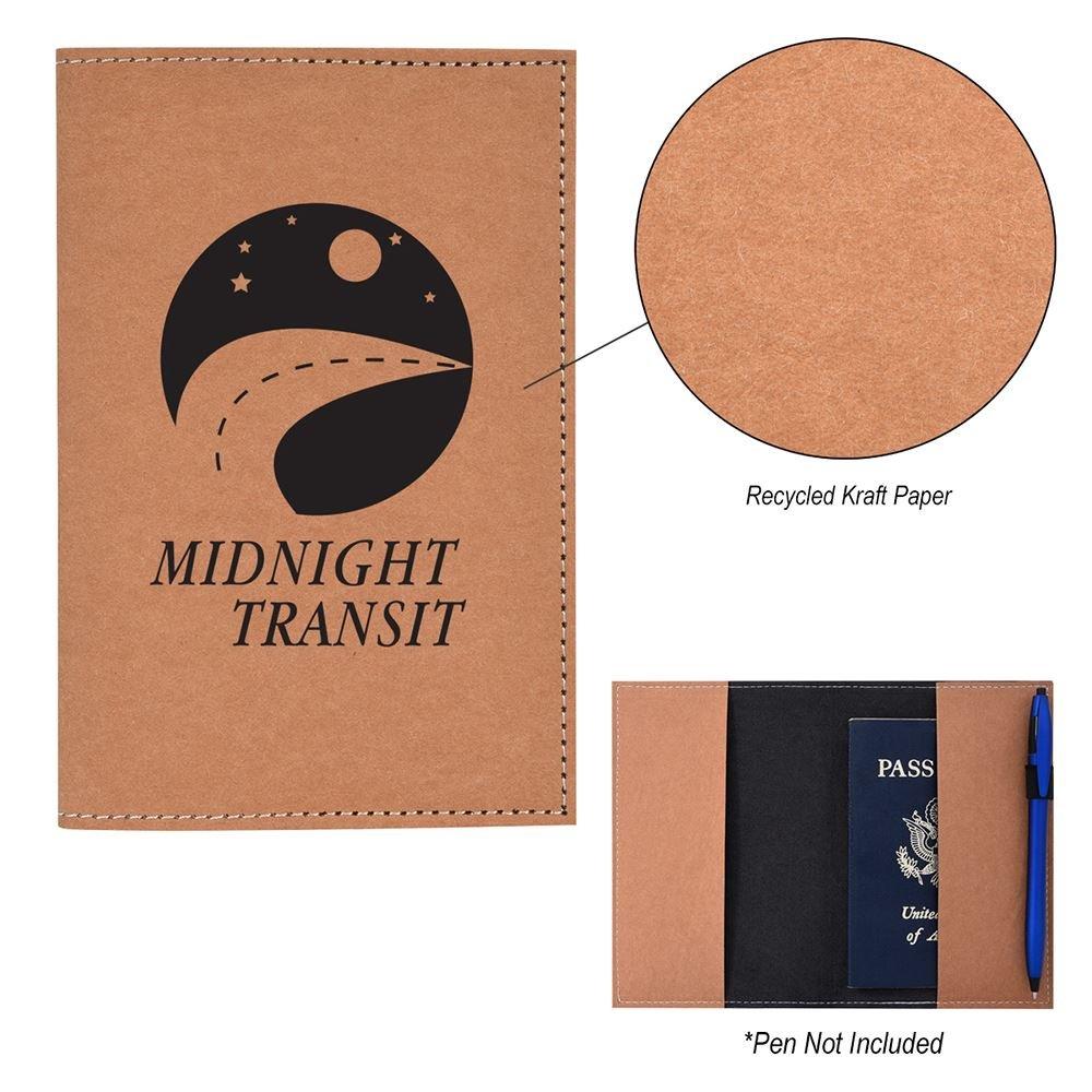 Kraft Paper Passport Holder - Personalization Available