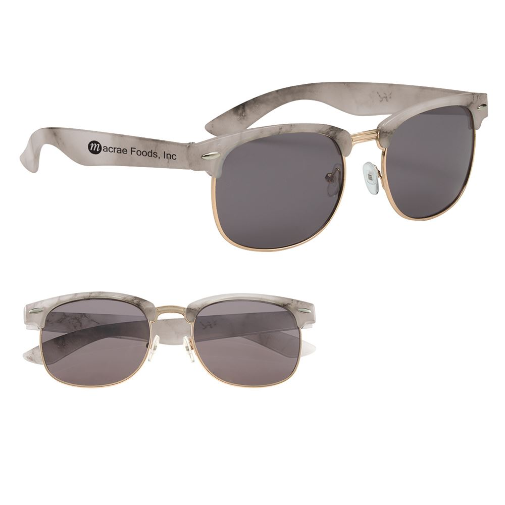 Marbled Panama Sunglasses - Personalization Available