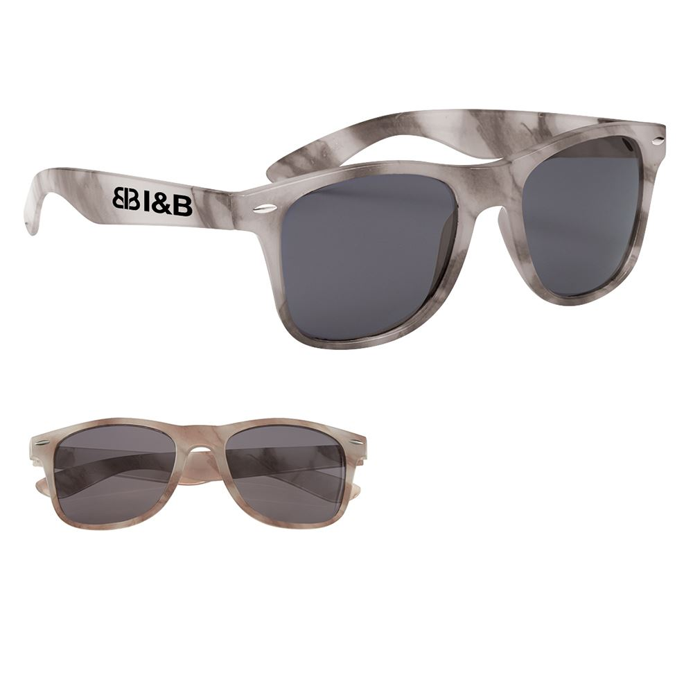 Marbled Malibu Sunglasses - Personalization Available