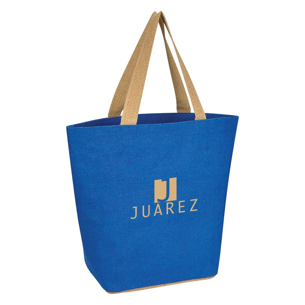 Marketplace Jute Tote Bag - Personalization Available