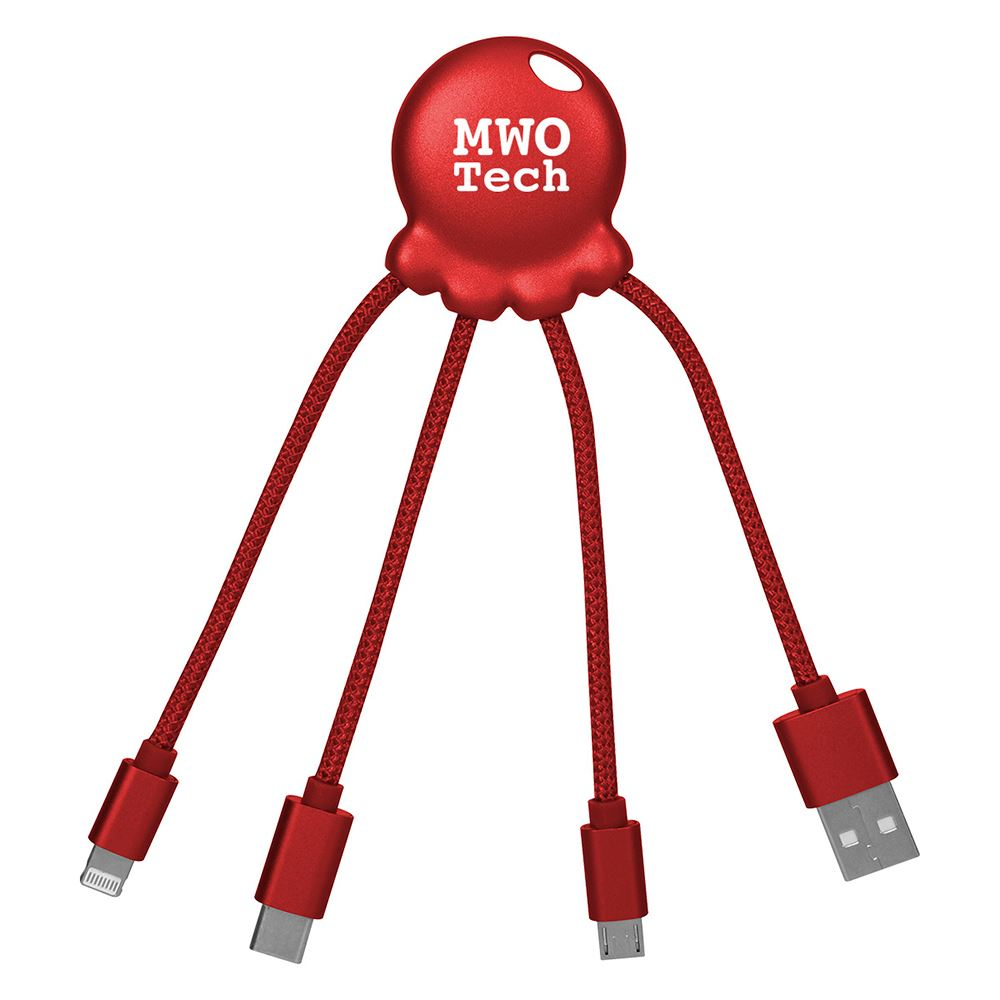 3-In-1 Xoopar Octo-Charge Cables - Personalization Available