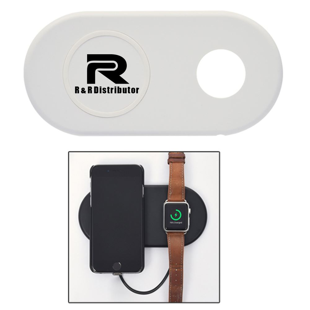 Tandem Phone & Watch Wireless Charging Pad With Custom Box - Personalization Available