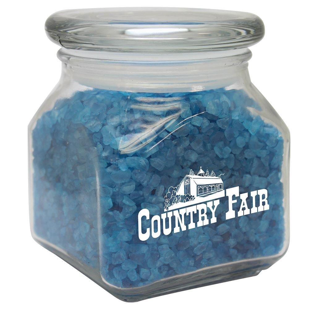 Bath Small Square Jar W/ SPA Bath Crystals