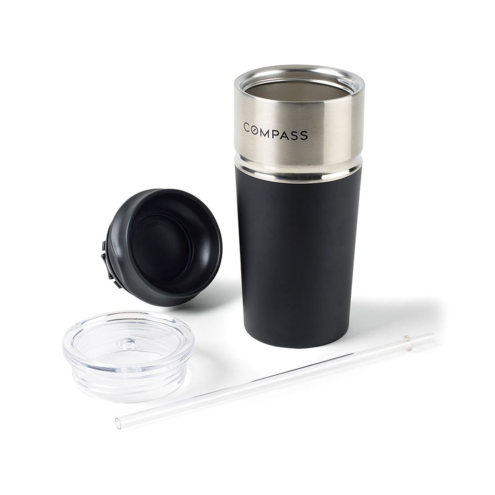 Emery 2-in-1 Double Wall Stainless Tumbler - 16 Oz.
