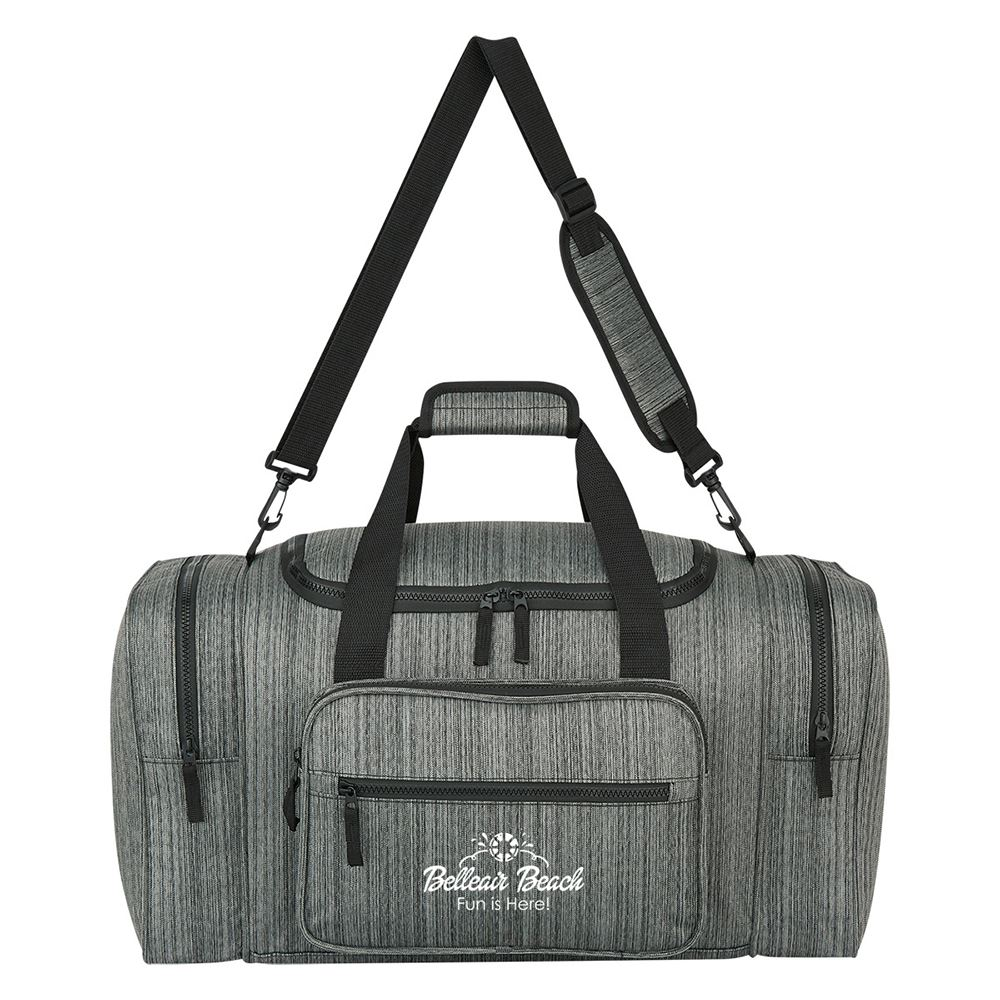 Heathered Duffel Bag - Personalization Available