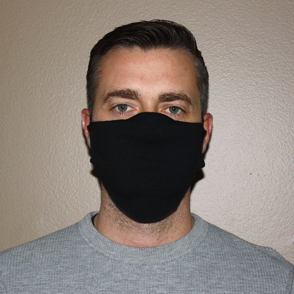 American Made 1-Ply Poly/Spandex Face Mask
