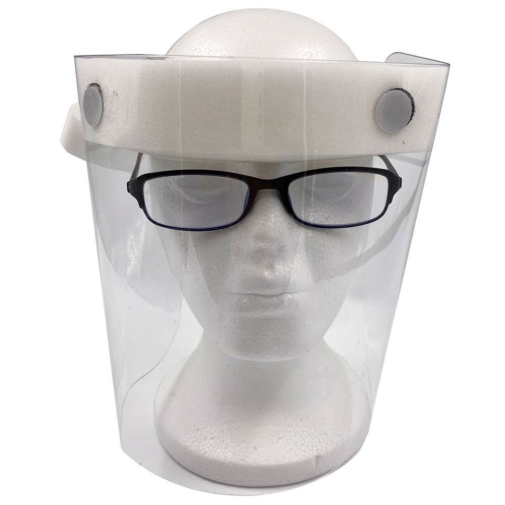 American Made Reusable Face Shield with Removable Foam Headpiece