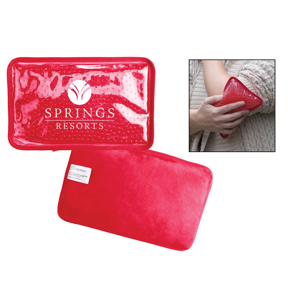 Hot/Cold Pack with Plush Backing - Rectangle - Personalization Available