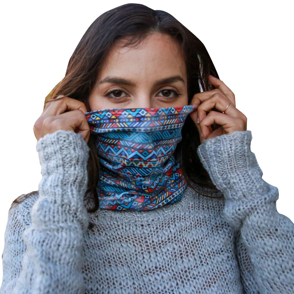 Multifunctional Neck Gaiter with   Antimicrobial Additive & UPF50 - Full Color Personalization