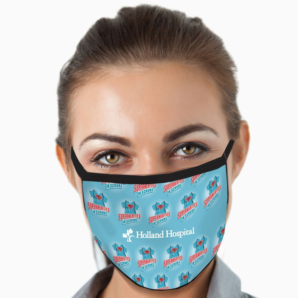 Superheroes in Scrubs American Made 3-Ply Mask - Personalization Available