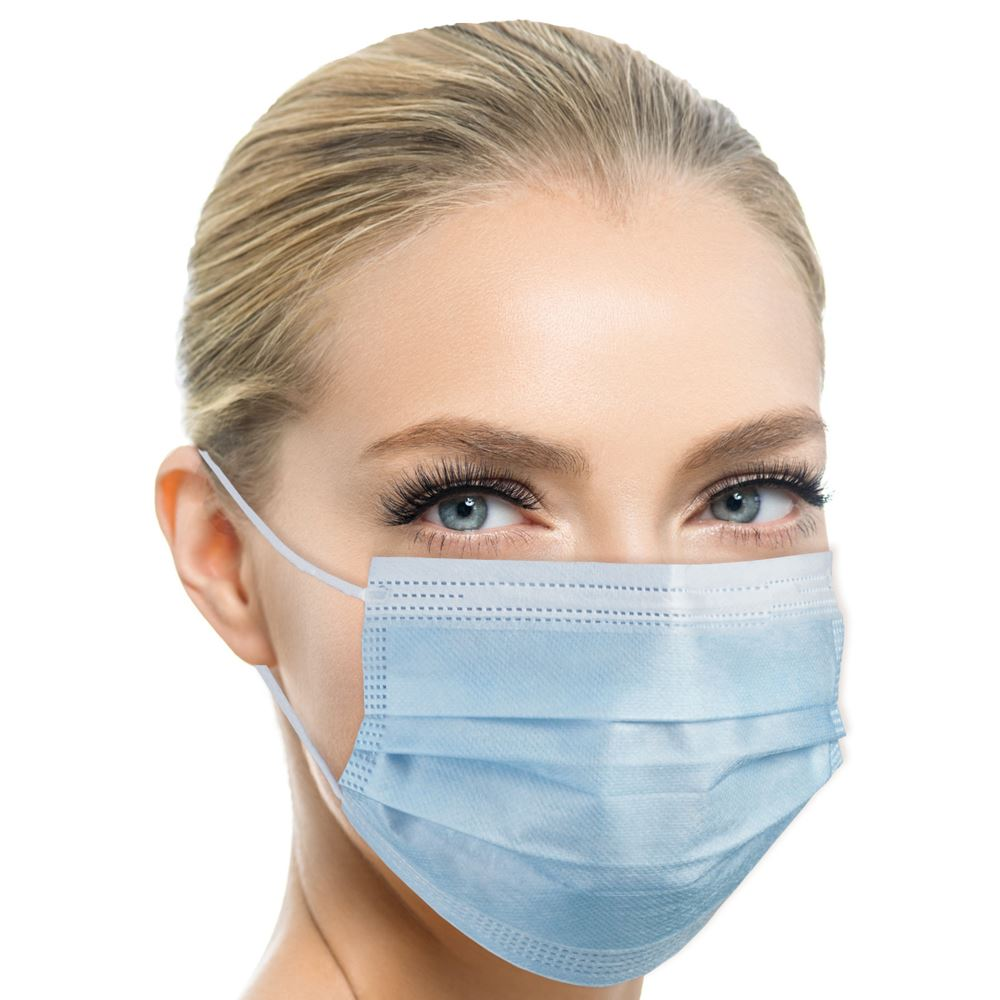 Disposable 3-Ply Face Mask - Adult