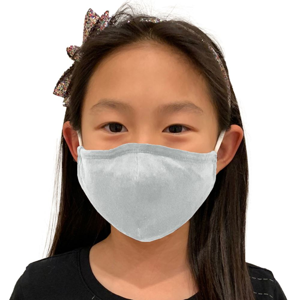 4-Ply 100% Cotton Youth Adjustable Face Mask With Nose Bridge Washable & Reusable