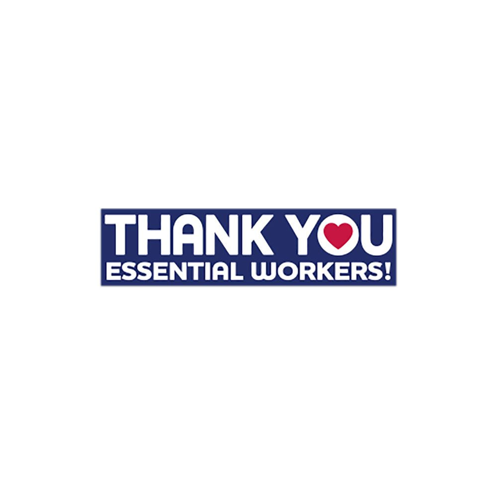 Thank You Essential Workers Bumper Sticker