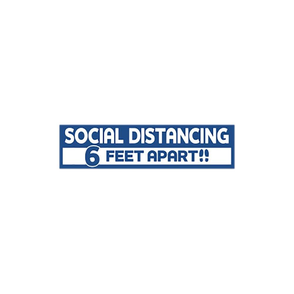 Social Distancing 6 Feet Apart Floor Decal