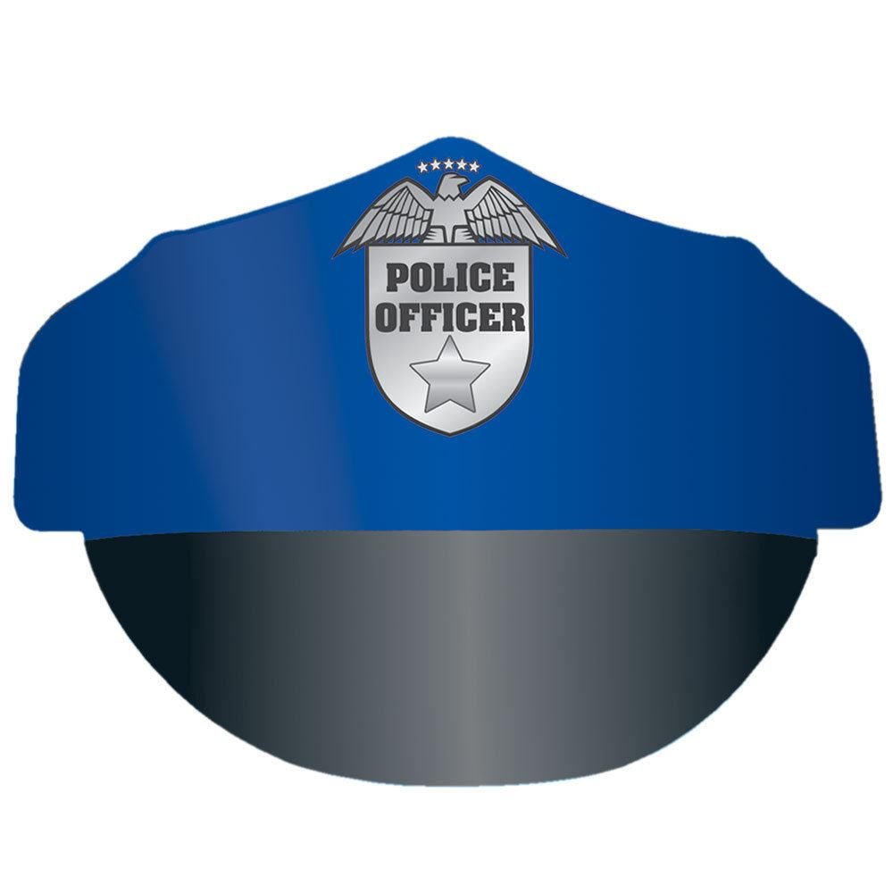 Pop-Out Paper Police Hat