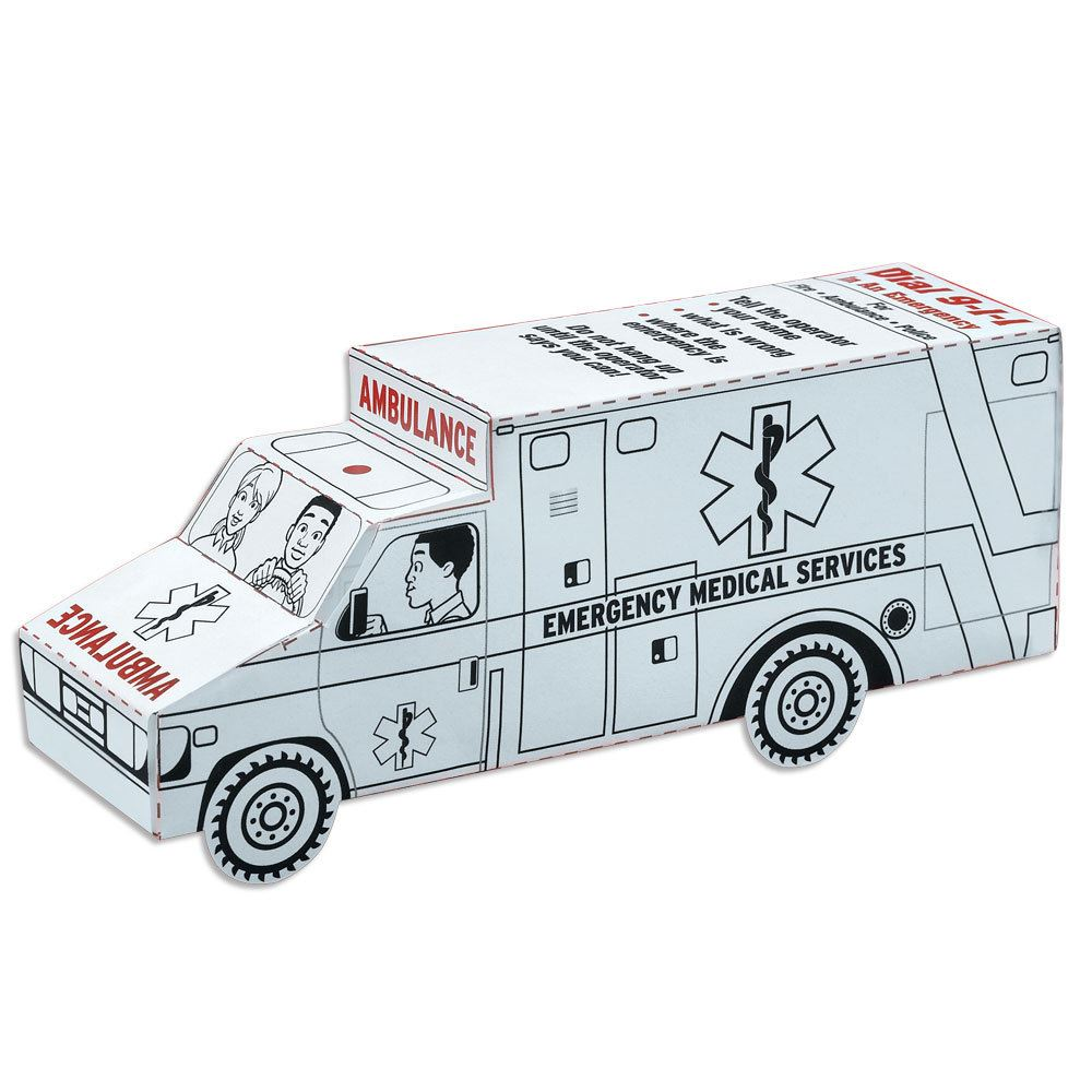 "EMS ""Color Me"" Paper Ambulance"