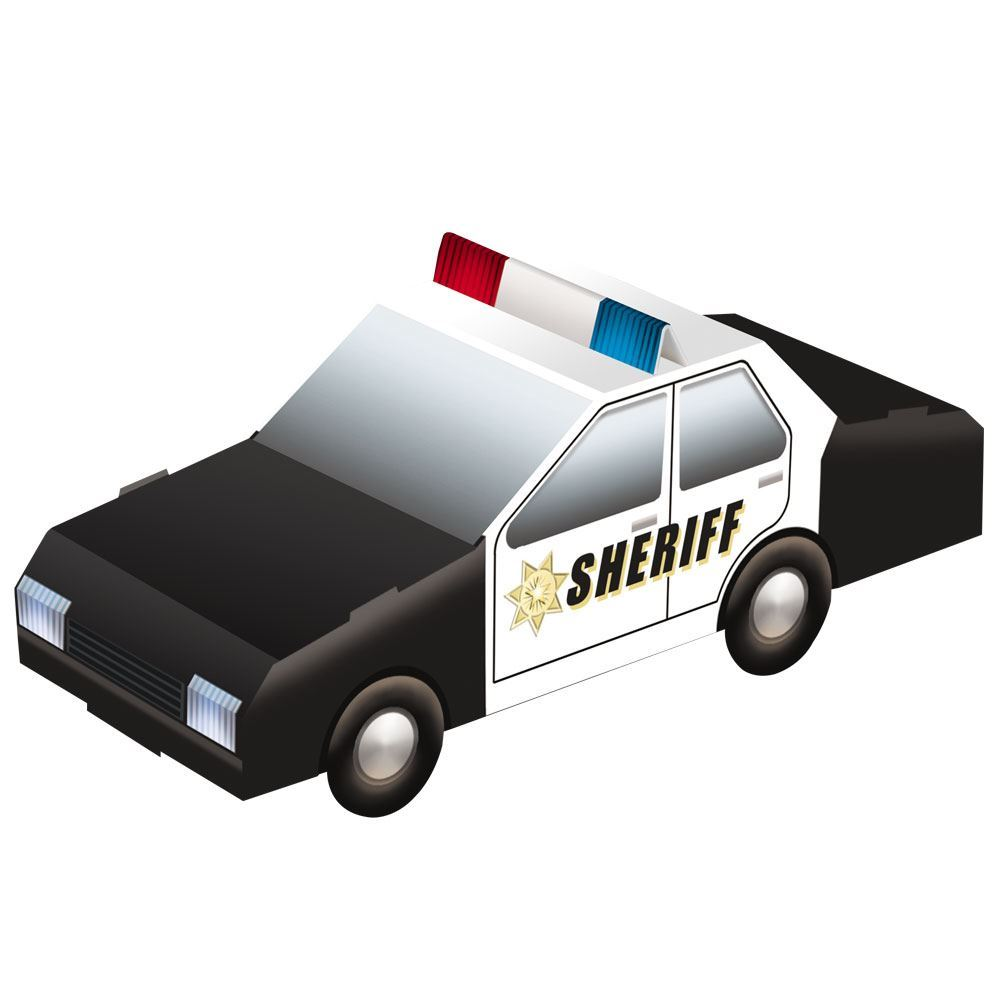 Pop-Out Paper Sheriff's Car
